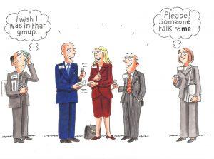 Shy networker not alone